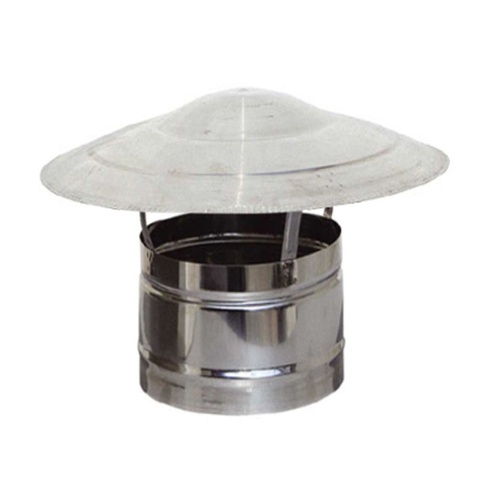 Stainless steel single wall hat - Cross section Ø80 - Made of 0.40mm thick (INOX) anti-magnetic steel