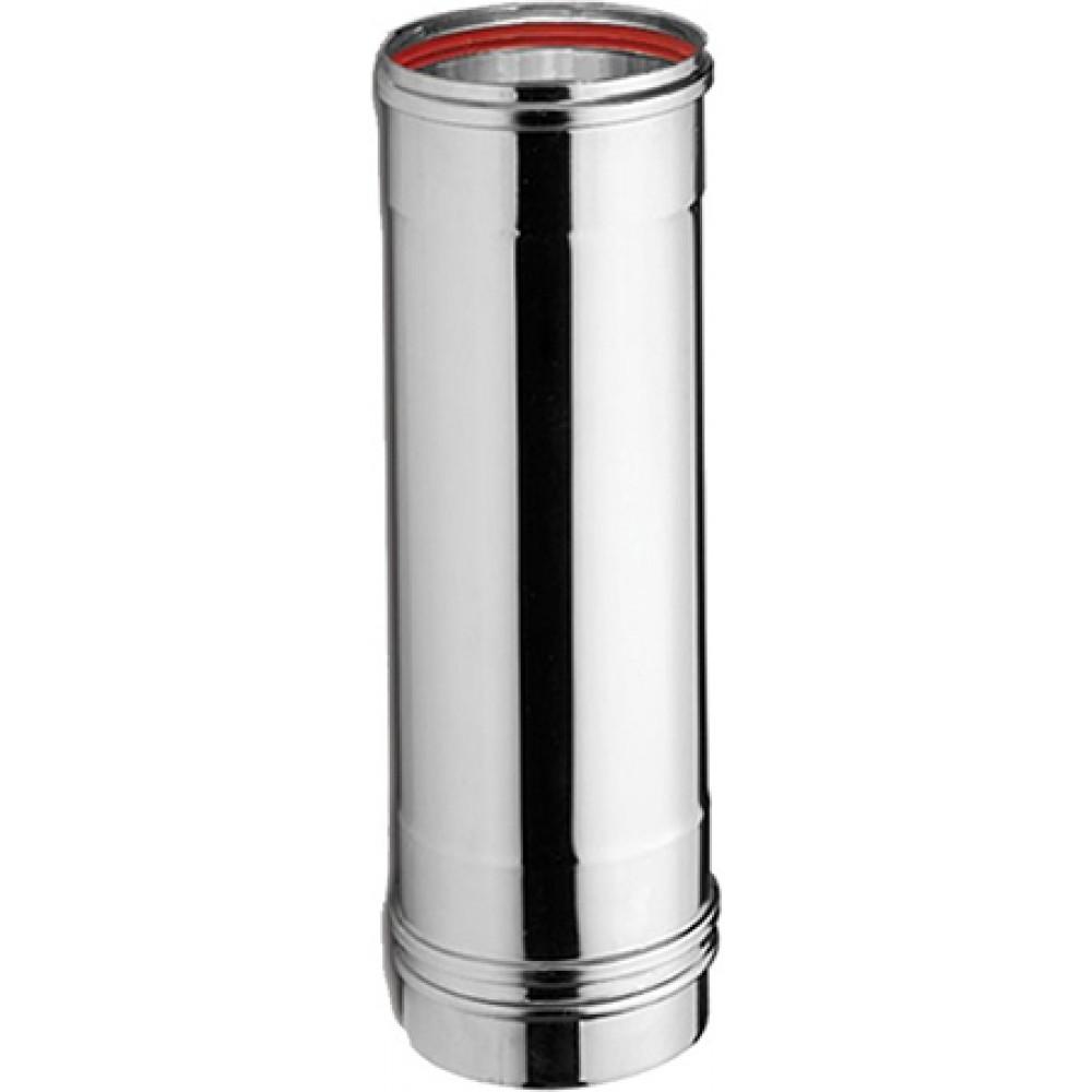 ART KAMIN Single wall stainless steel chimney - Cross section Ø080 Length 1 Width m 0.40mm - stainless steel anti-magnet (INOX)