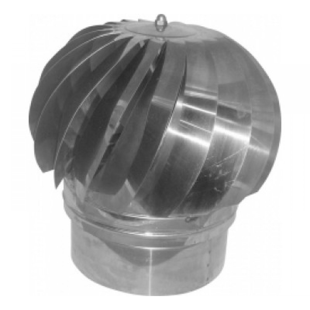 Stainless double-wall rotating hat - Cross section Ø 100-150 stainless steel (INOX) 0.40mm stainless steel