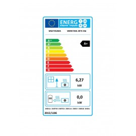 AIr pellet stove - Werstahl Zeus ZS06 - 6kw - 89% efficiency