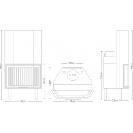 Boiler fireplace Warm FW 80 BD BOILER POLY (30kw - 25.800kcal)