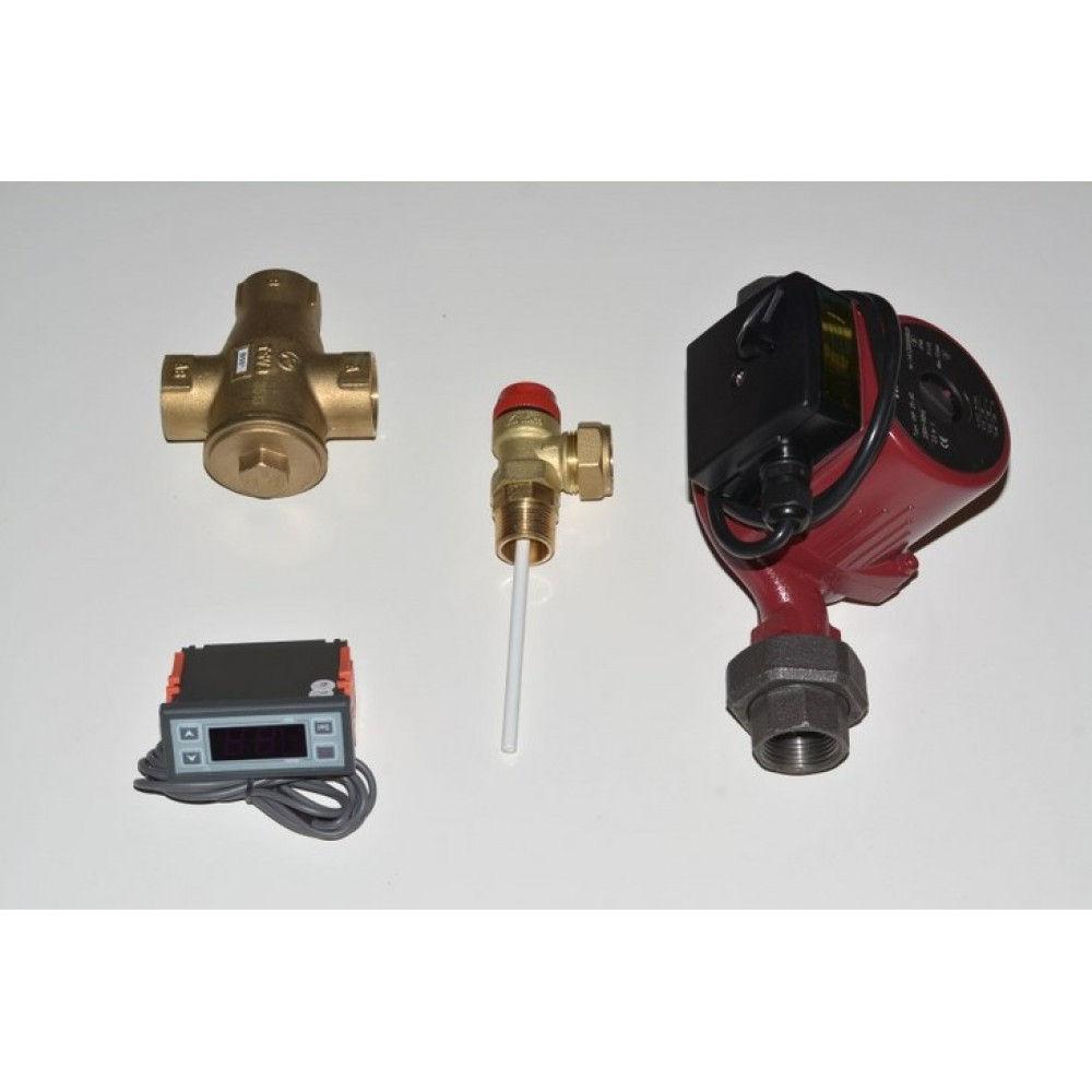 Basic components of open expansion vessel connection kit of boiler fireplaces