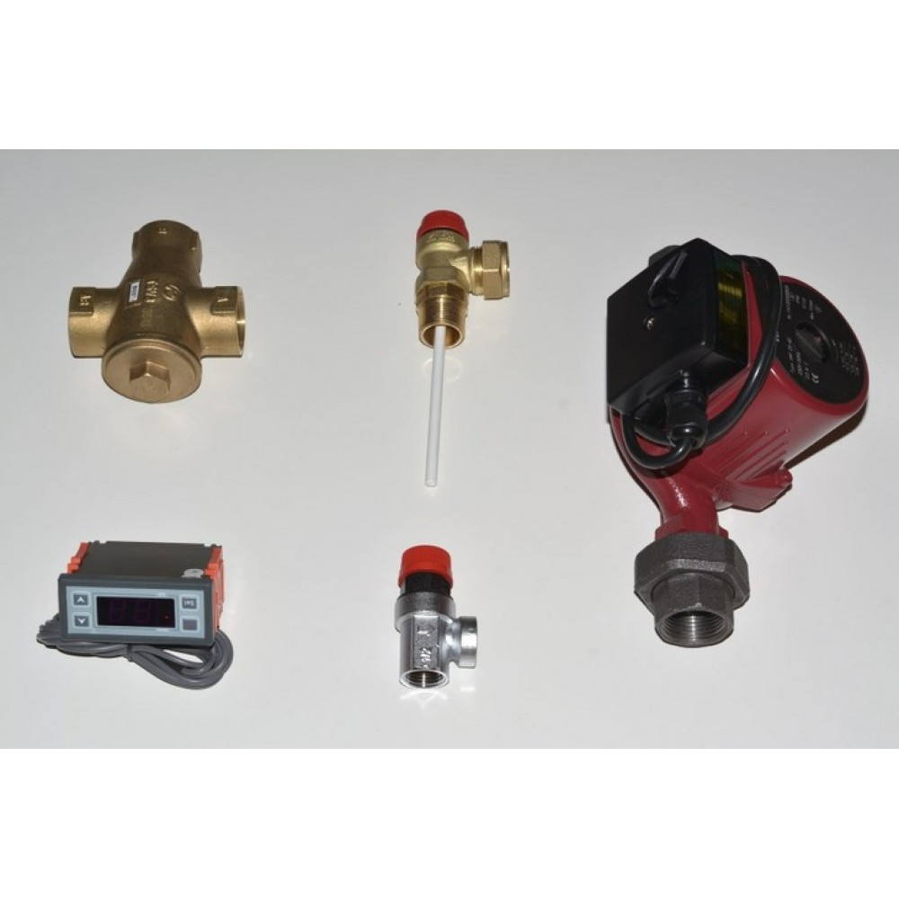 Basic components of Closed expansion vessel connection kit
